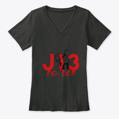 J13 MidsUp Womens Premium V Neck