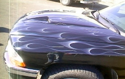 Flames- Blue Dodge PU-1
