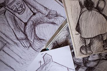 Sketch, David Watson, Painter, Northern