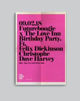 Futureboogie, The Love Inn Poster.