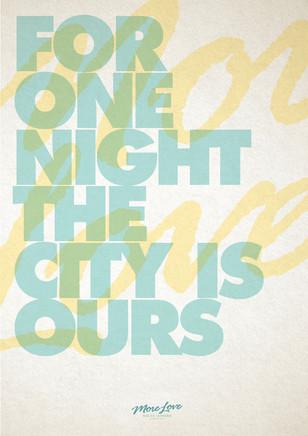 More Love Promo Poster.