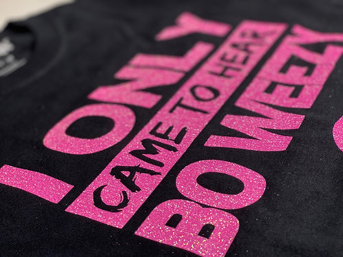 Exclusive Bo Weezy Supporter Tee - Pastel Pink & Glitter
