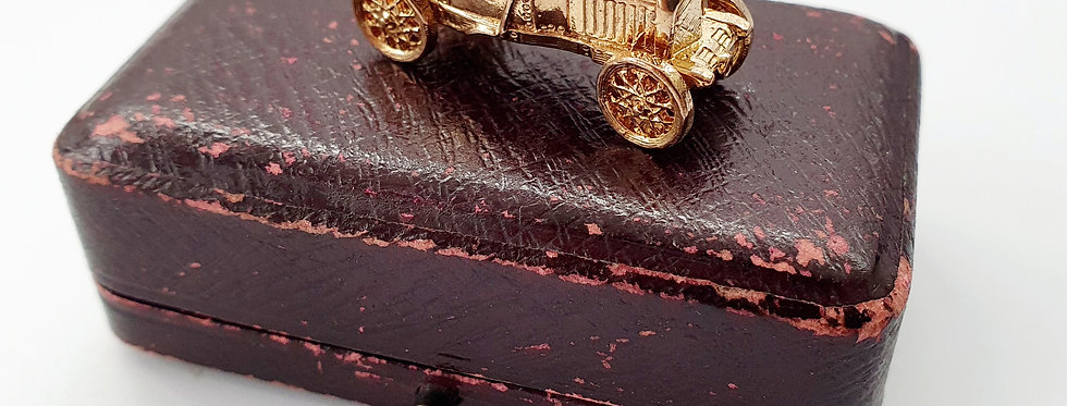 Vintage 9ct Gold Motor Car Charm