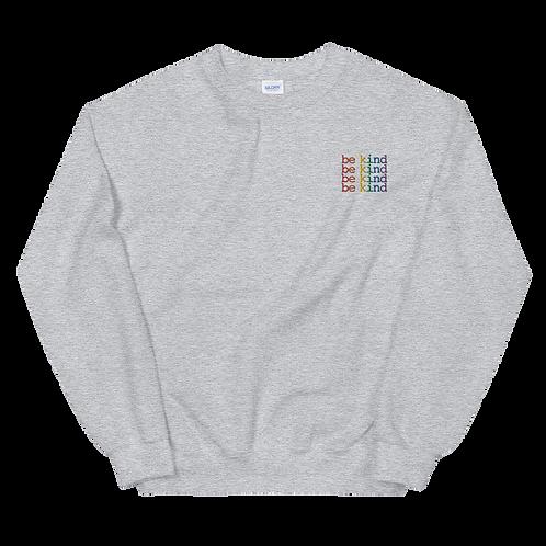 Be Kind Unisex Embroidered Sweatshirt