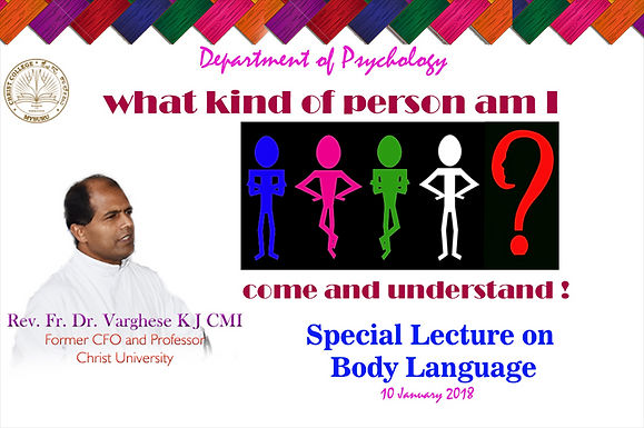 SPECIAL LECTURE ON BODY LANGUAGE