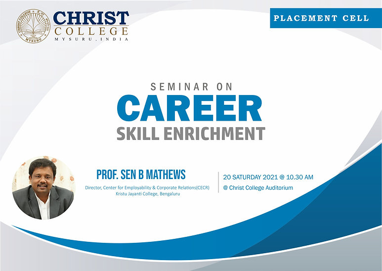 "Seminar on "" Career skill enrichment"""