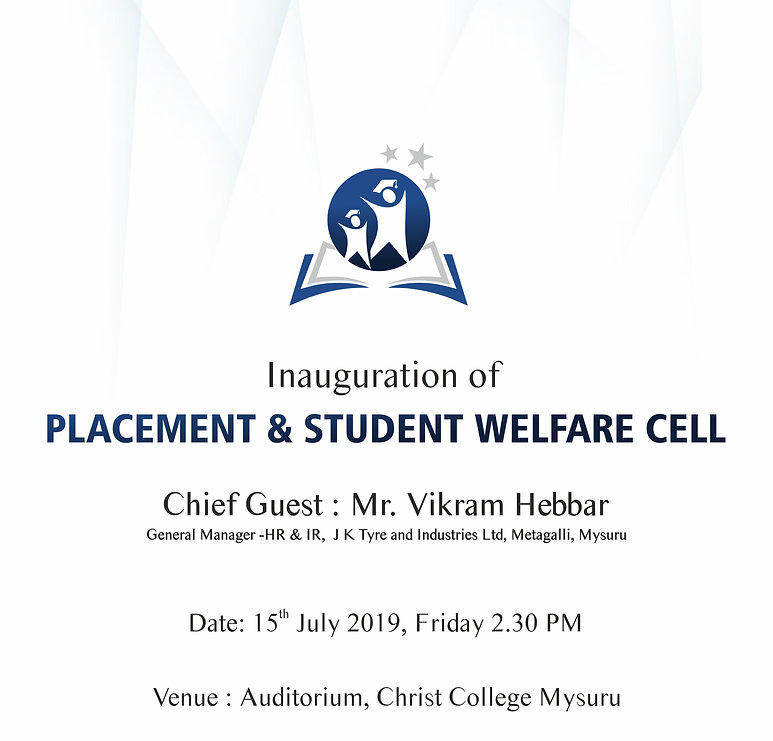 Inauguration of  PLACEMENT & STUDENT WELFARE CELL