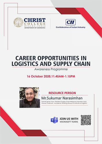 CAREER OPPORTUNITIES IN LOGISTICS AND SUPPLY CHAIN - 2