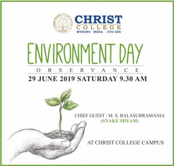 WORLD ENVIRONMENT DAY OBSERVANCE