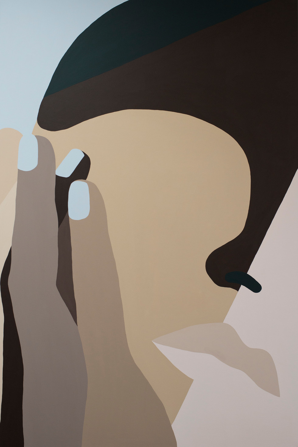 Réflexion, 2020 acrylic on canvas 80 x 120 cm