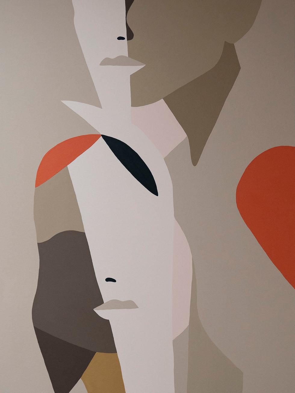 The Daisy Chain, 2021 (sold) acrylic on canvas 60 x 80 cm