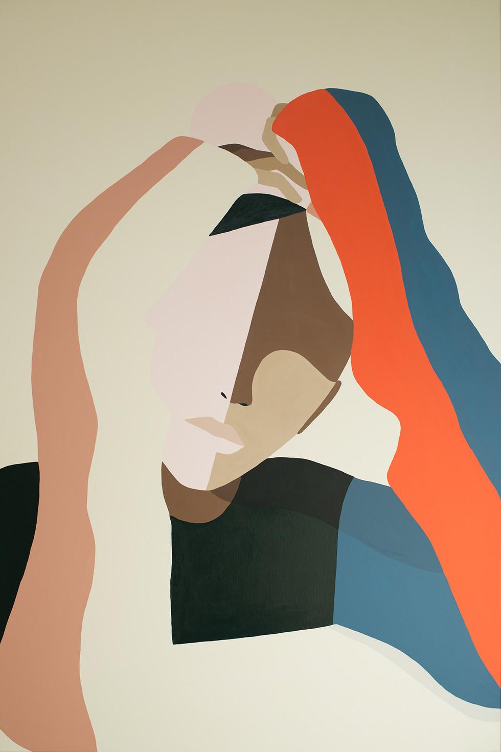Chair, 2020 acrylic on canvas 80 x 120 cm