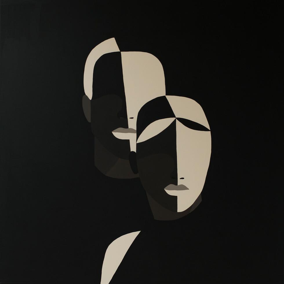 B.L.M, 2020 (sold) acrylic on canvas 80 x 80 cm