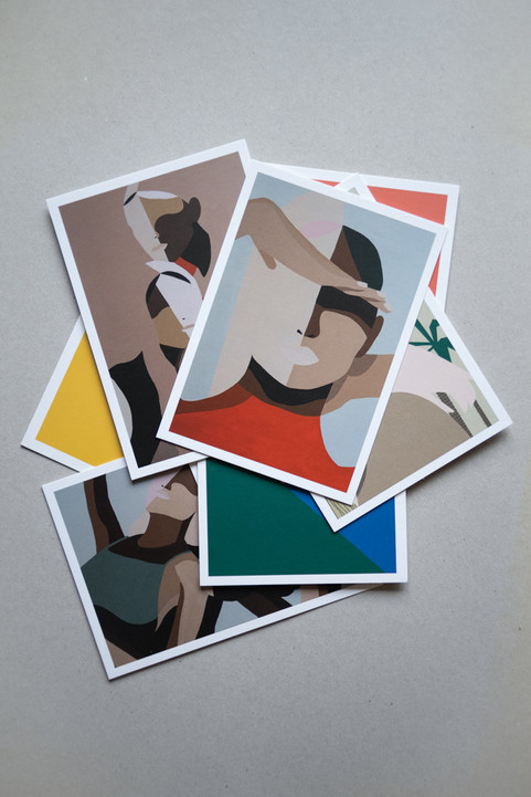A set of 9 postcards A6 CHF 20