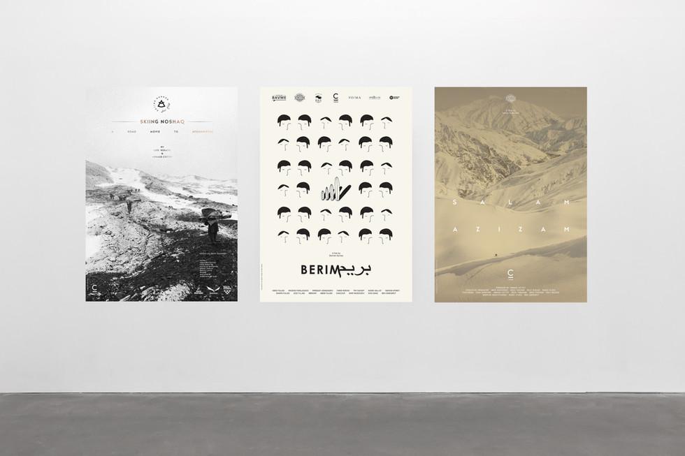 Skiing Noshaq, 2015 Berim, 2016 Salam Azizam, 2016 Poster Design  Industries: Sports, Travel, Culture, Documentary