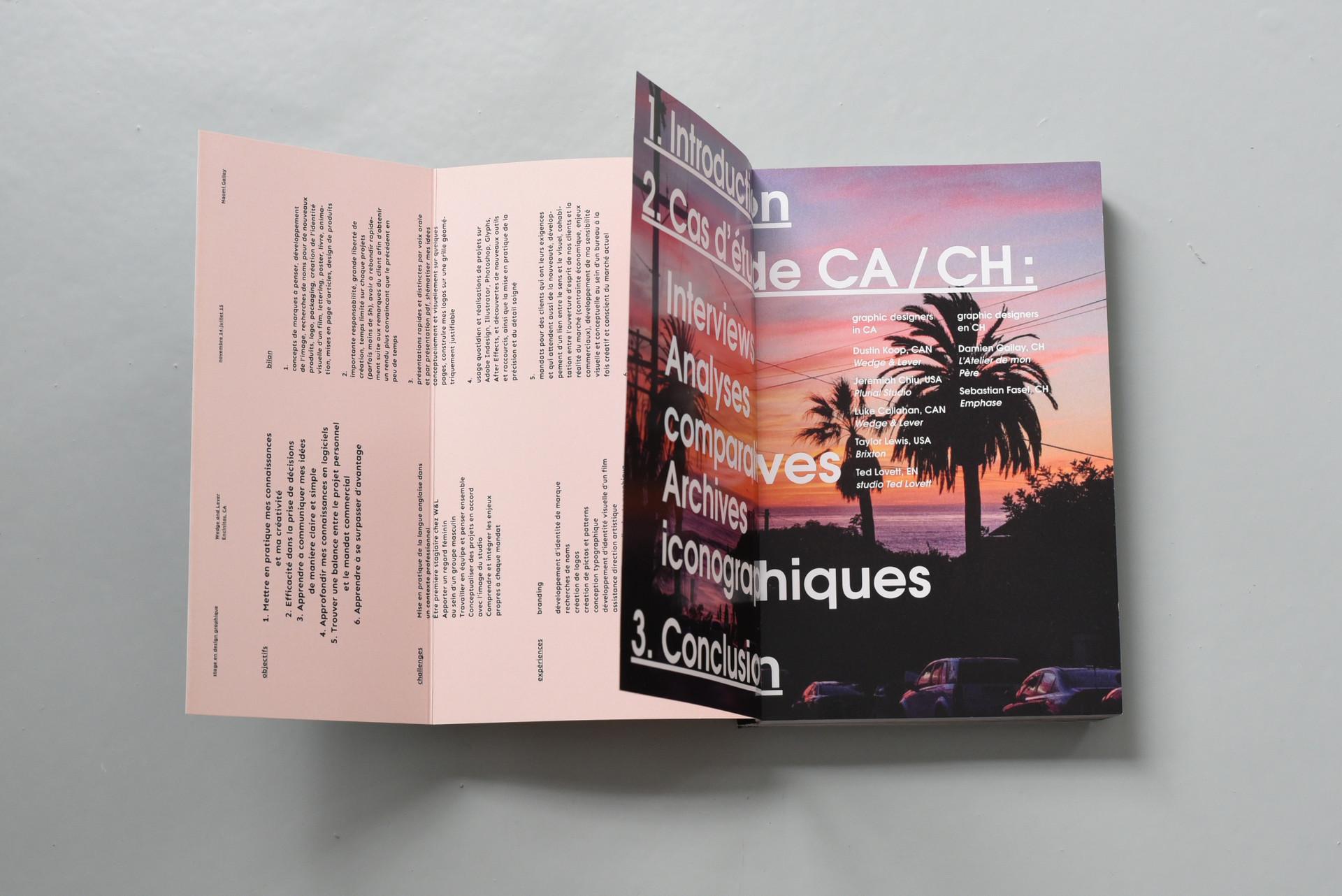CA/CH graphic design studies