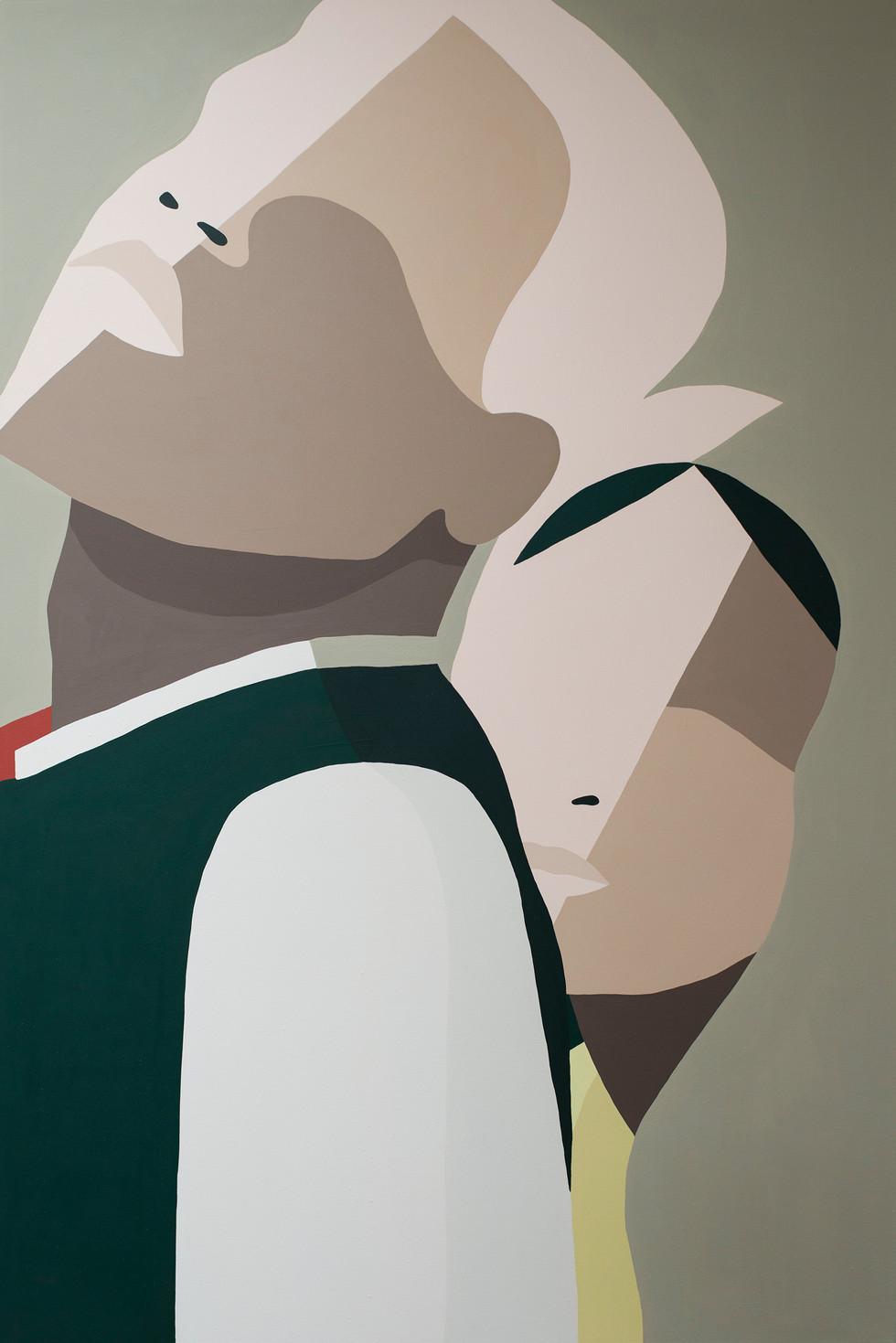 Collés serrés, 2020 acrylic on canvas 80 x 120 cm