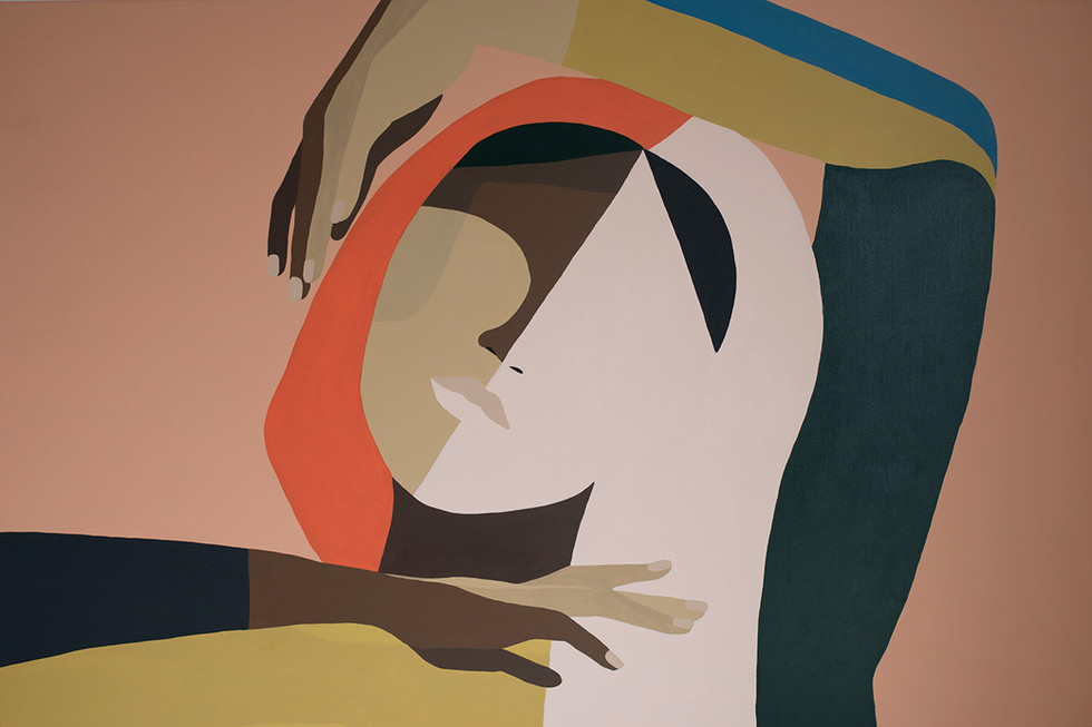 Vague, 2020 (sold) acrylic on canvas 120 x 80 cm