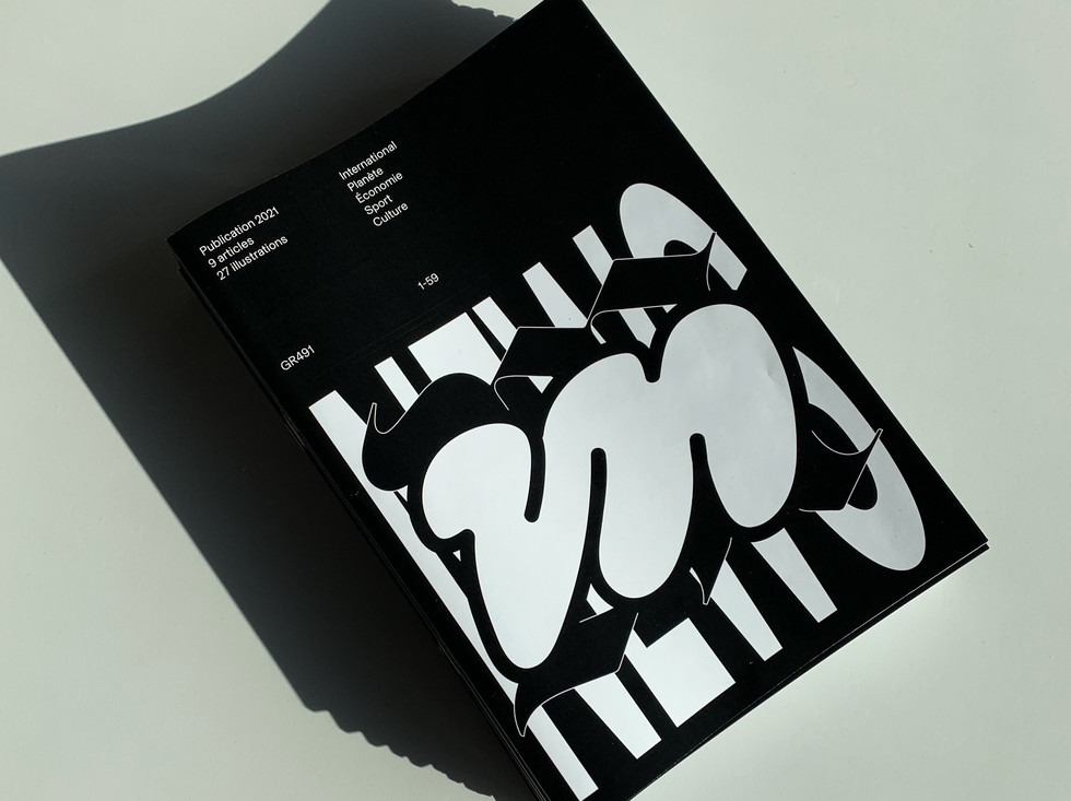 News, 2021  A publication made with students from ERACOM (Art and Communication School in Lausanne)  Industry: Education