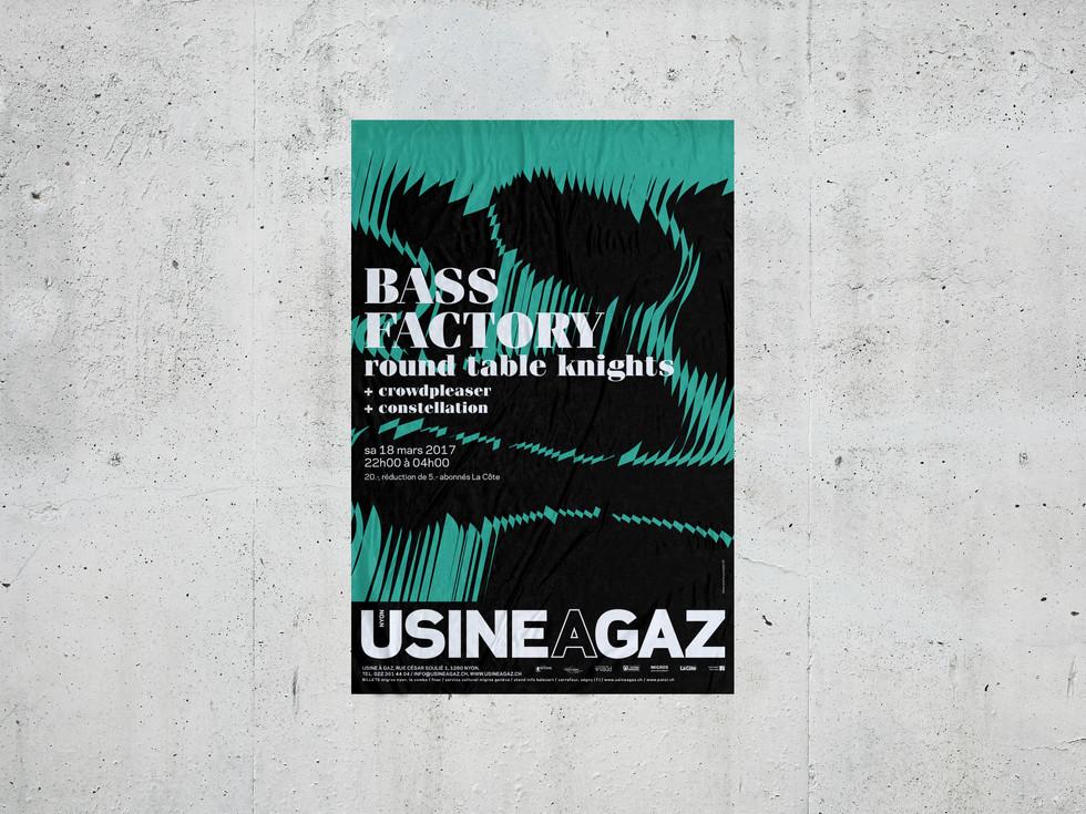Usine à Gaz, 2016 Poster Design for L'Atelier Poisson, CH  Industries: Culture, Music, Art
