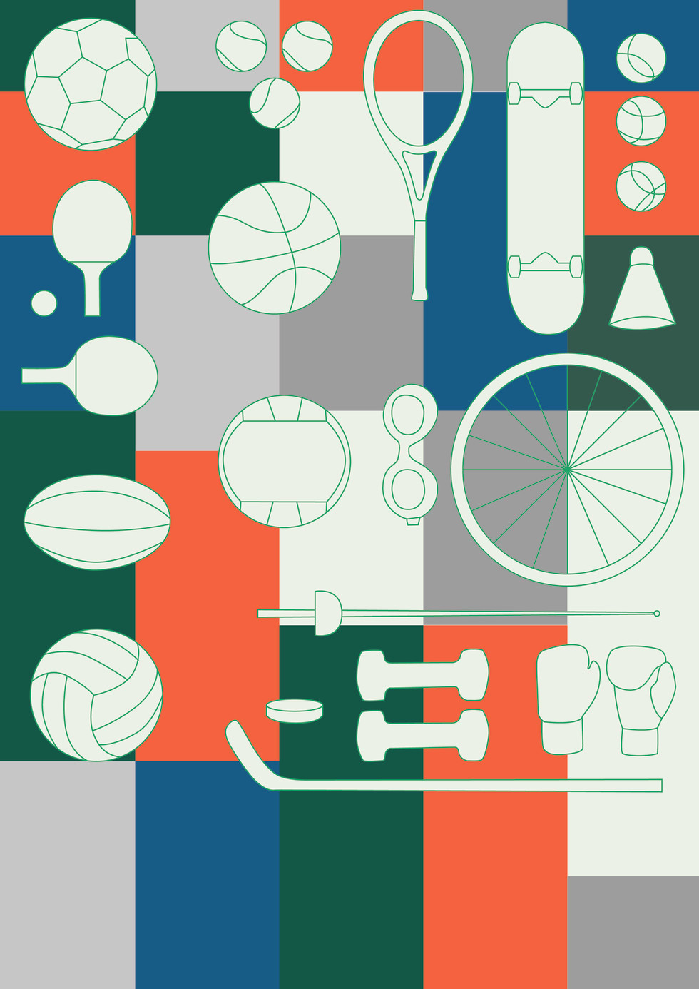 Illustration and graphic research, 2021  Industry: Sports
