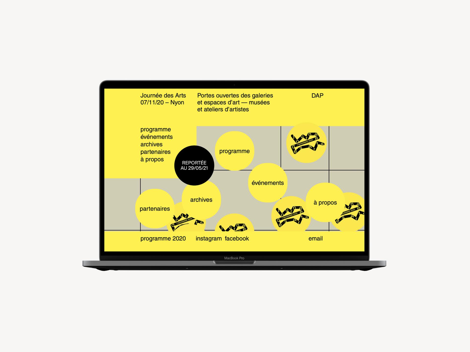 La Journée des Arts, 2020 Visual identity system and web design
