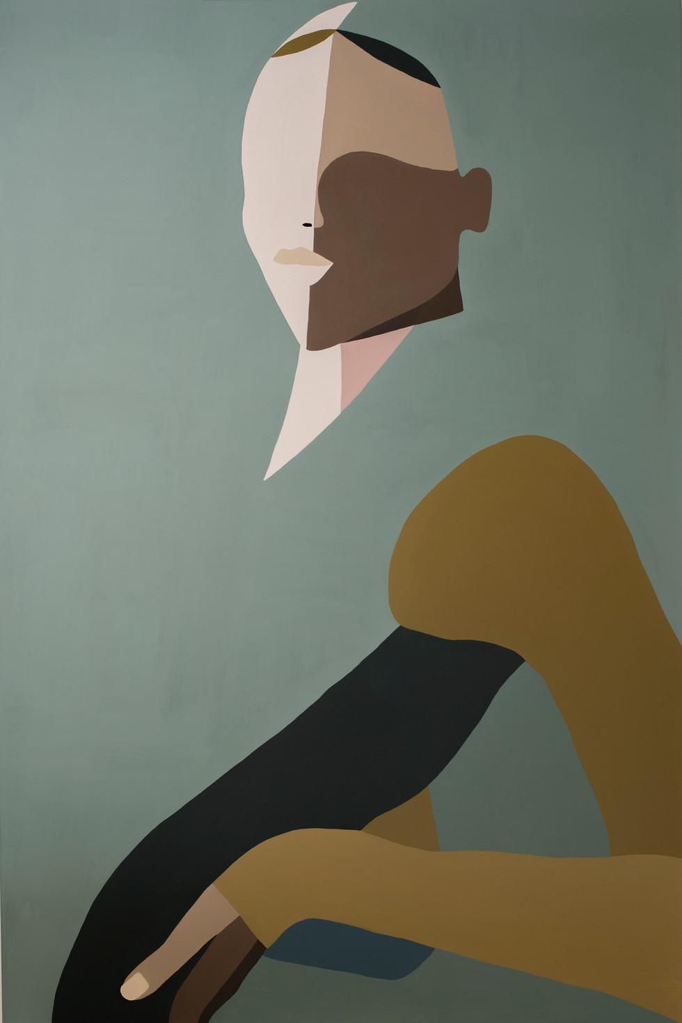 Submersion, 2020 acrylic on canvas 80 x 120 cm