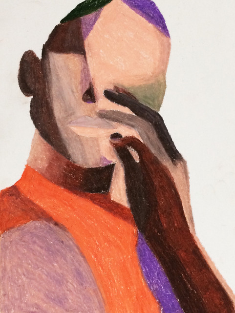 Oil pastels on paper 4 21 x29,7 cm CHF 190