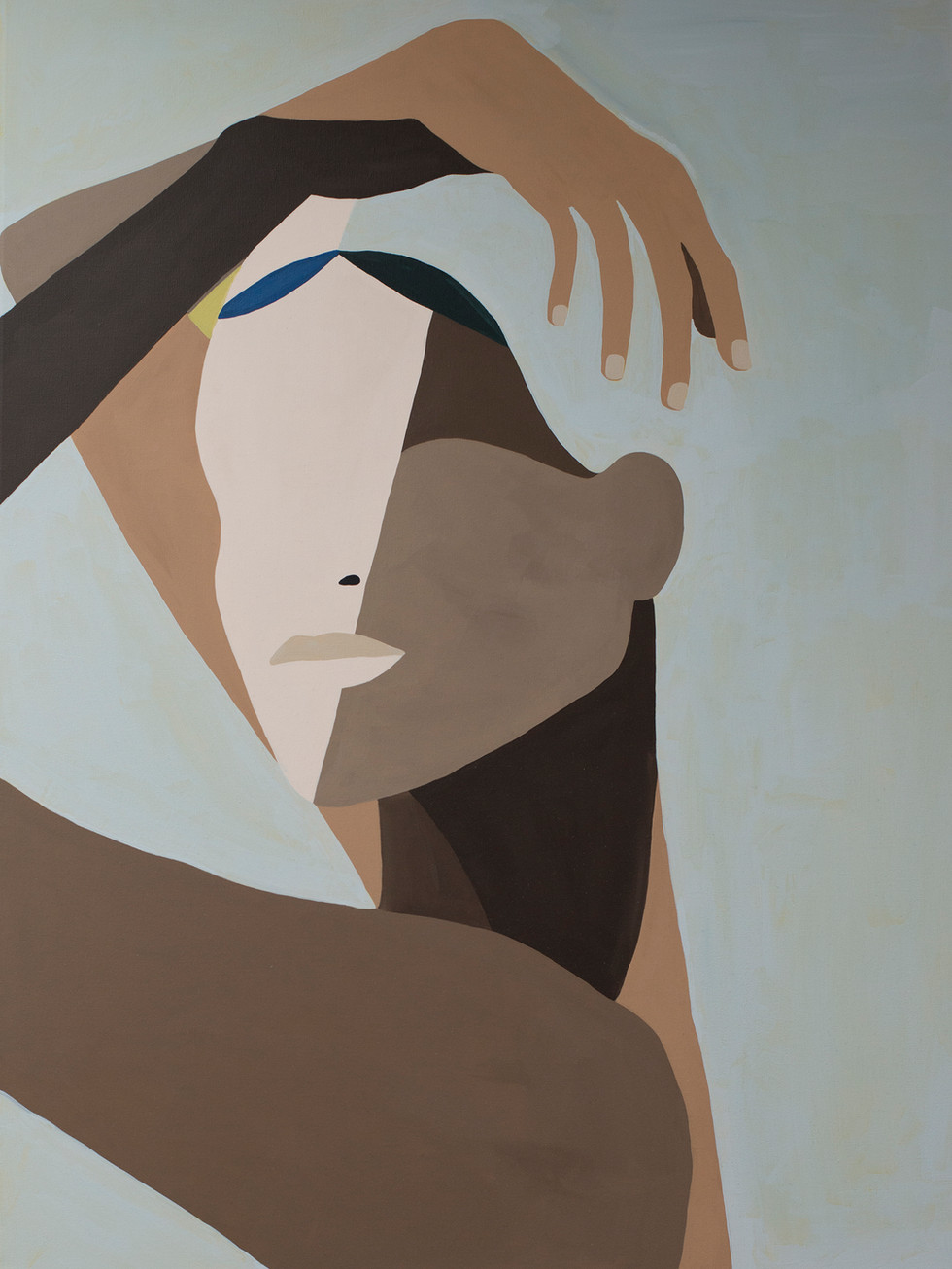 Air, 2020 (sold) acrylic on canvas 60 x 80 cm