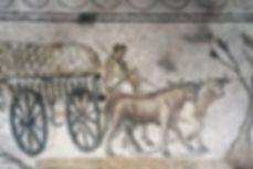 Mosaïque du Cortège rustique à Orbe-Boscéaz