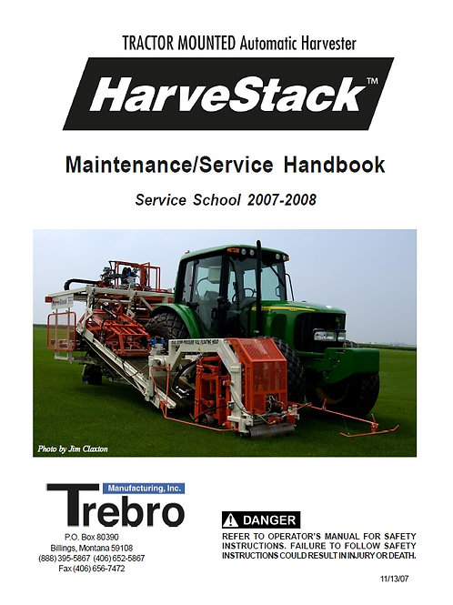 Harvestack Service School Manual