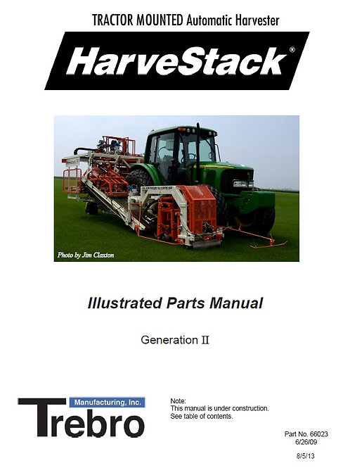Harvestack Parts Manual 2nd Generation