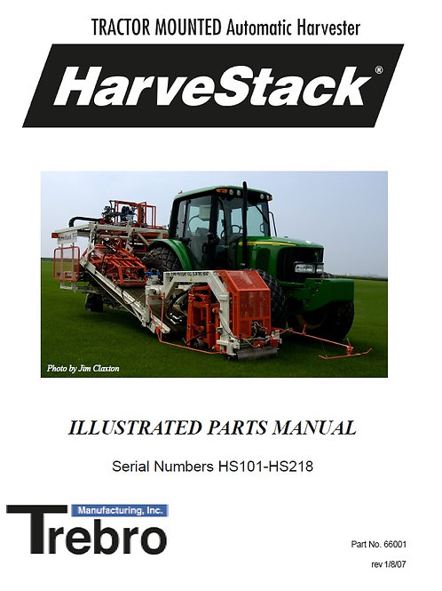 66001 Harvestack Parts Manual (Pre HS219) (digital download)