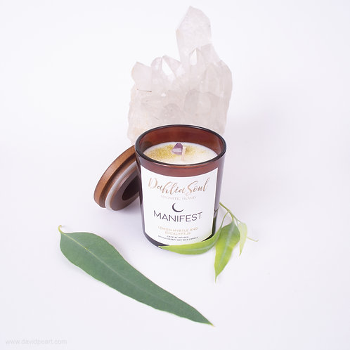 Manifest soy wax aromatherapy candle