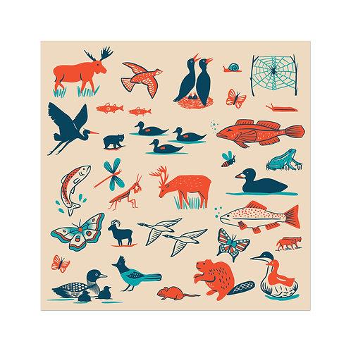Animals Sticker Sheet