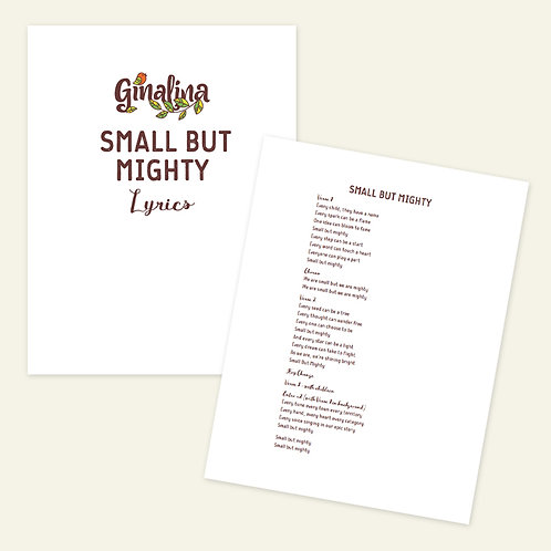 Small But Mighty Sing-Along Book