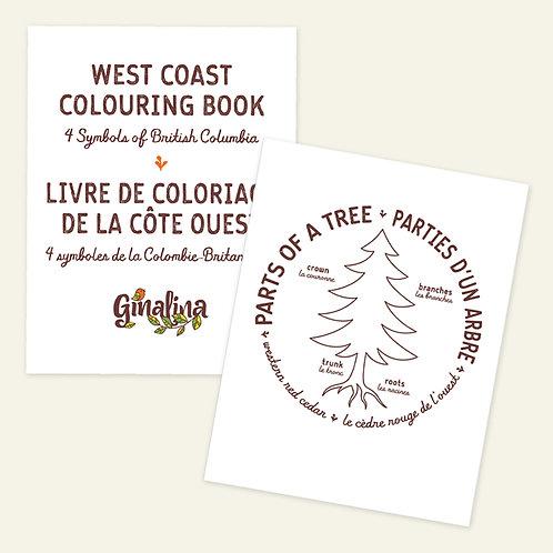 West Coast Colouring Book | Livre de coloriage de la côte ouest (digital)