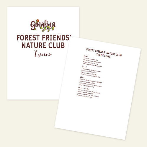 Forest Friends Nature Club Sing-Along Book