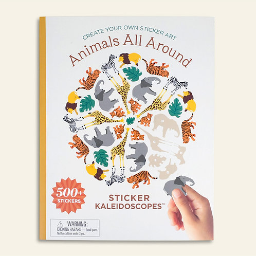 Animals All Around – Kaleidescope Sticker Book with Ginalina Stickers