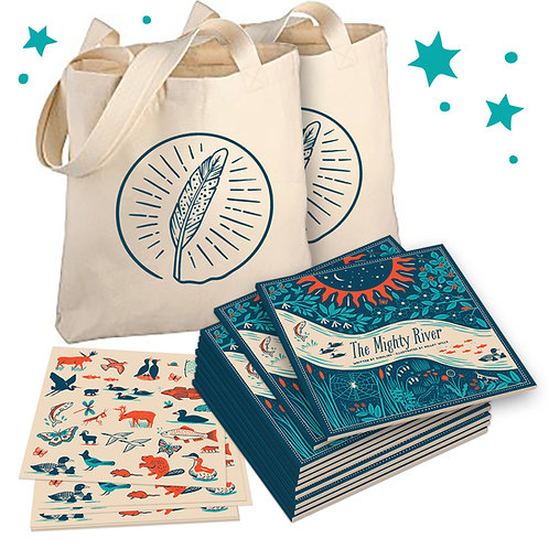 Big Share Pack – Set of 10 books with 10 sticker sheets and 2 free tote bags