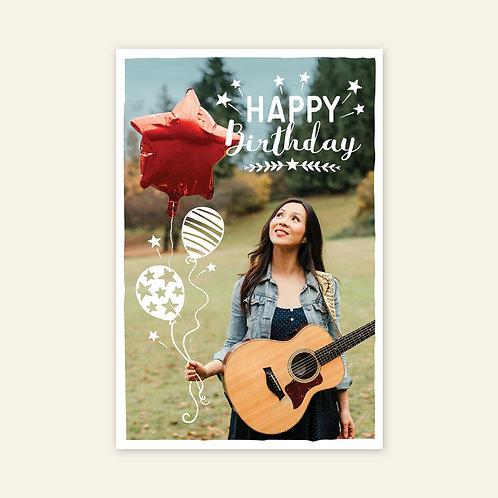 Birthday Card from Ginalina