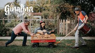 Ginalina and band branded photo