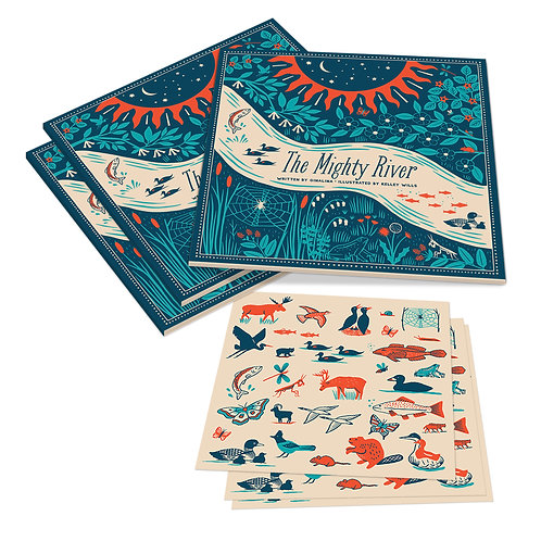 Gift Pack – Set of 3 The Mighty River Books with 3 Sticker Sheets