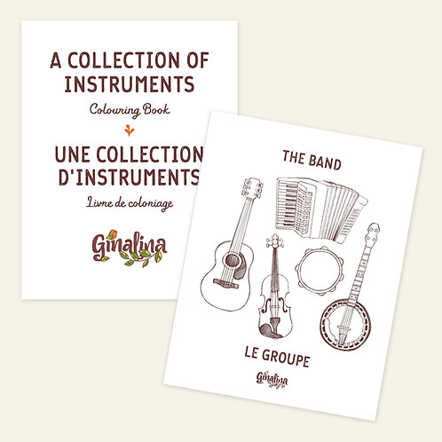 A Collection of Instruments Colouring Book (digital)