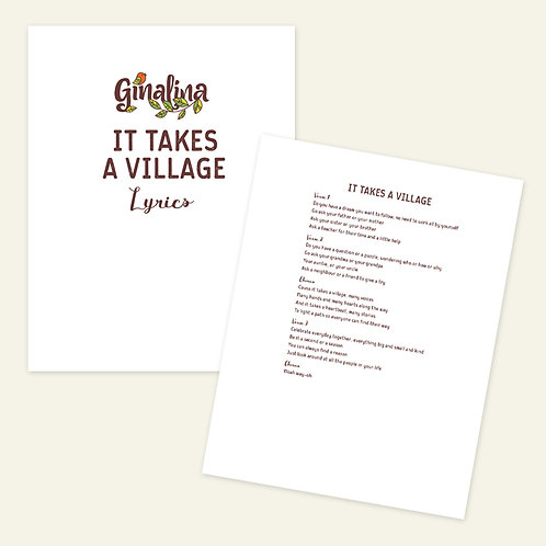 It Takes A Village Sing-Along Book