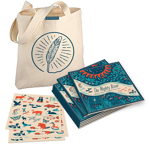 Mighty Gift Pack – Set of 6 books with 6 sticker sheets and a free tote bag