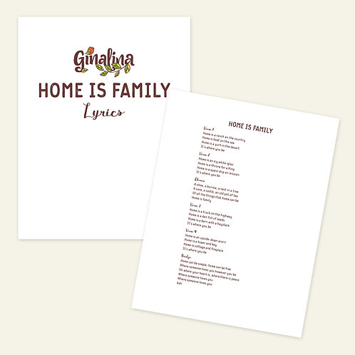 Home Is Family Sing-Along Book