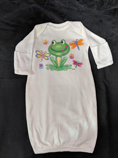 Frog Newborn Gown
