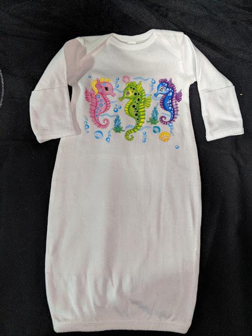 Sea Horse Newborn Gown
