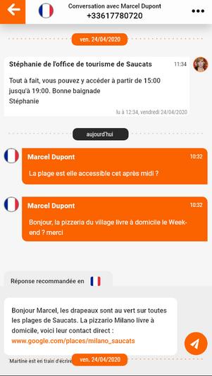 Boite de réception écran 2 - version mobile